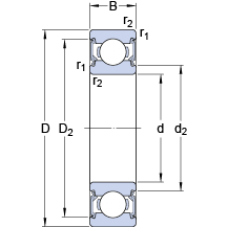 Подшипник 6204-2RSL