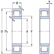 Подшипник NU 210 ECP